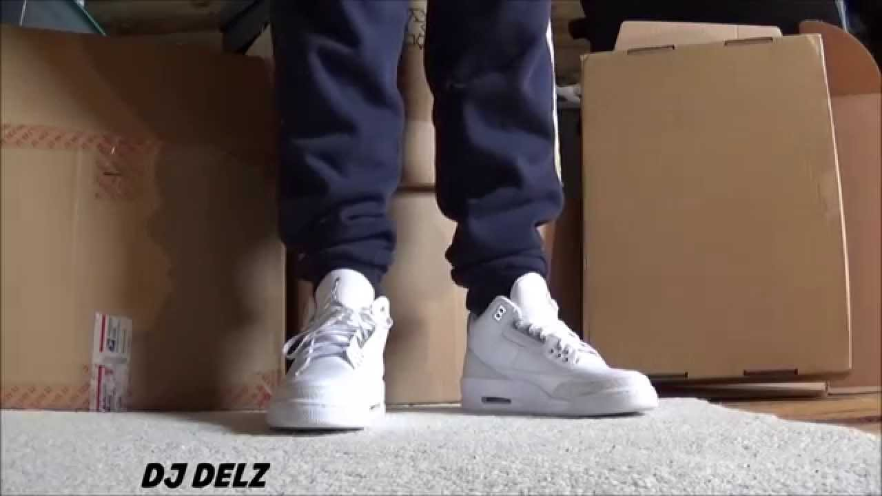 1a1ee925265 Air Jordan 3 Pure Money 25th Anniversary Sneaker On Feet - YouTube