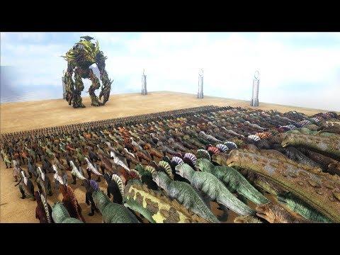 Forest Titan VS ARK Dinosaurs    Cantex