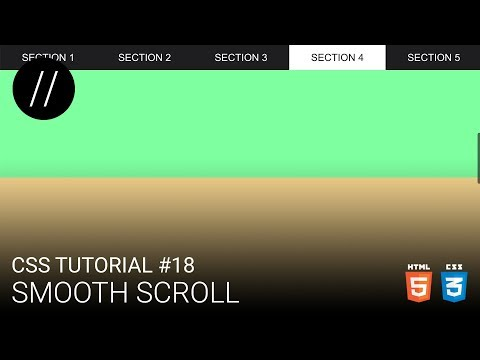 CSS Tutorial #18 — Smooth Scroll [UP/TO/DATE] thumbnail