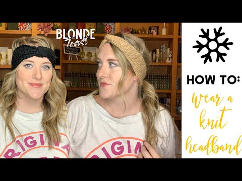 HOW TO WEAR A KNIT HEADBAND : a short hair tutorial, quick hairstyle, winter hair