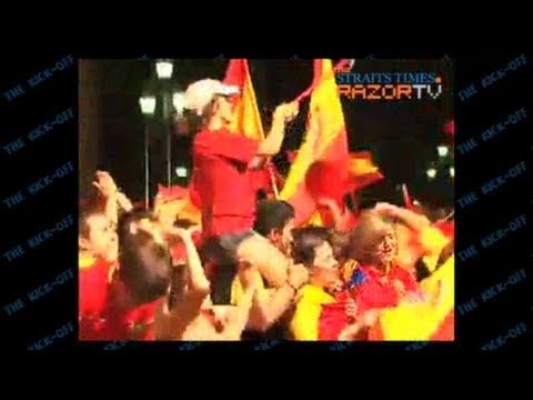 Catalan celebrates Spain win with some reservation