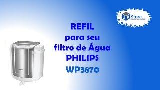 Veja com trocar o refil de seu filtro de água Philips WP3870