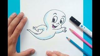 Como dibujar a Casper paso a paso - Casper | How to draw Casper - Casper