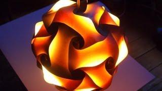 Светильник из Бумаги Как Сделать Своими Руками(Популярный светильник луми из стандартных элементов. Игра теней от сборочных элементов и придает светильн..., 2013-10-07T17:40:30.000Z)