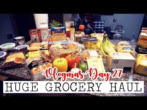 HUGE GROCERY HAUL! || Vlogmas Day 27