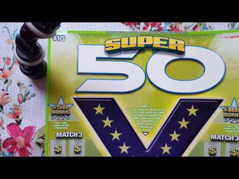Super 50 HUGE Ticket Indiana Lottery New Scratch Off