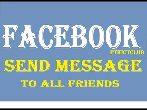 ❤️How to Auto Send FB Message to all Friends on Facebook Just one Click 2019 || Use Latest Toolkit