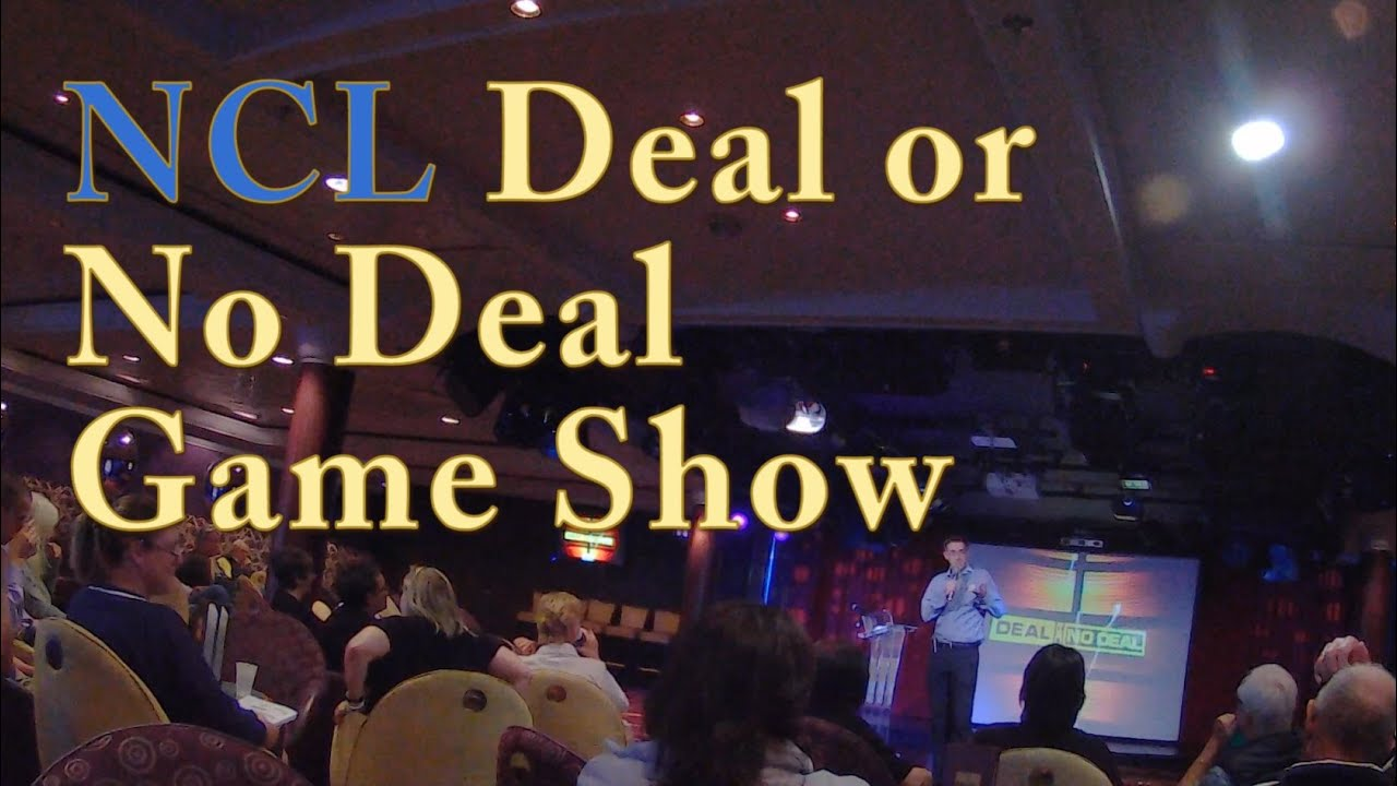 Ncl deal or no deal game show on norwegian star youtube