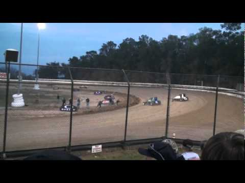 USAC Sprinters Warmin' Up at Ocala (Bubba) Speedway Thursday Feb 9 2012
