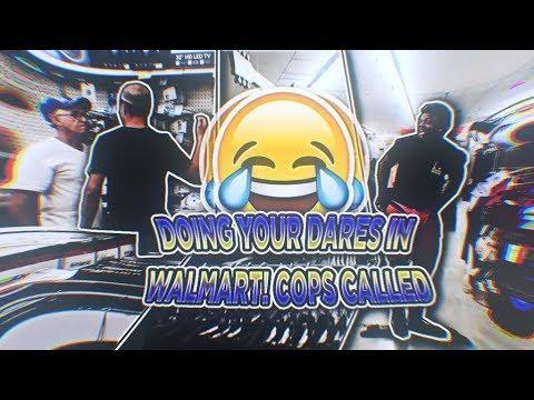DOING YOUR DARES IN WALMART! *COPS CALLED*