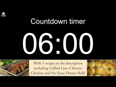 6 minute Countdown timer (with alarm)
