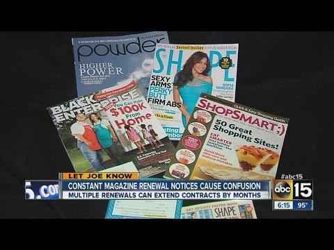 Constant magazine renewal notices cause confusion