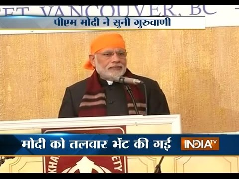 PM Modi says Sikhs have made India proud in Canada - India TV