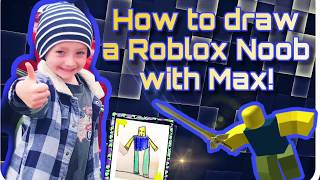How to Draw Roblox Noob - Kids Drawing Art Videos