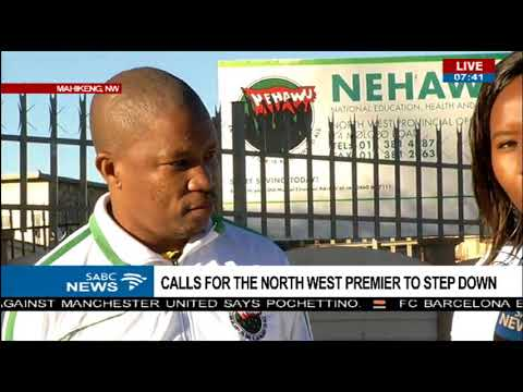 Calls for North West premier to step down