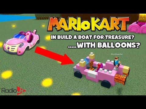 Roblox Build A Boat For Treasure | MarioKart FAIL | Audrey, Chad & Ryan