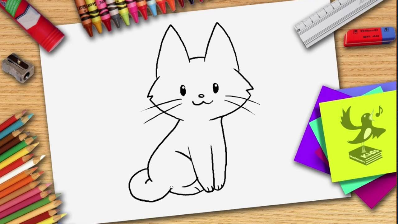 Wie zeichnet man eine Katze - Katze zeichnen lernen - YouTube