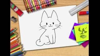 Wie zeichnet man eine Katze - Katze zeichnen lernen
