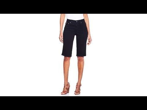 DG2 by Diane Gilman Superstretch Denim Bermuda Shorts. http://bit.ly/2WCYBow