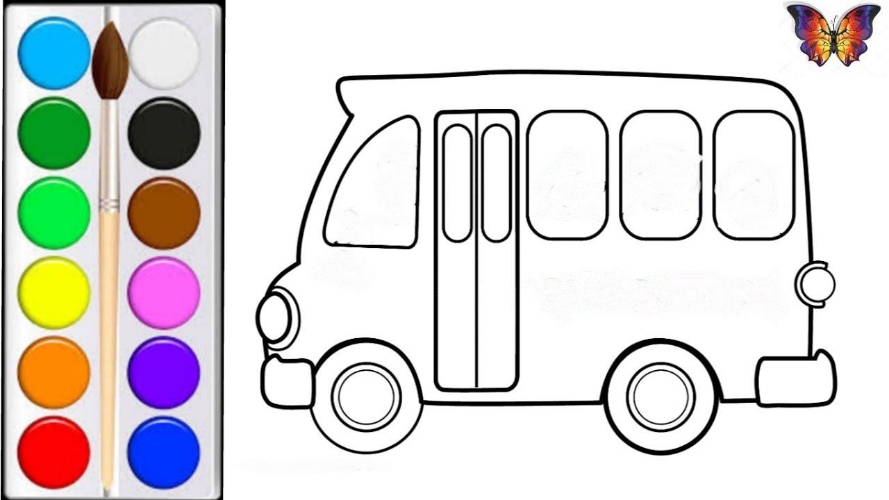 Как нарисовать АВТОБУС / мультик раскраска АВТОБУС для ...