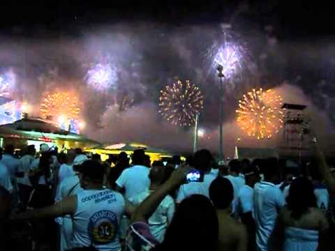 rio de janeiro, south america brazil. happy new year 2014.