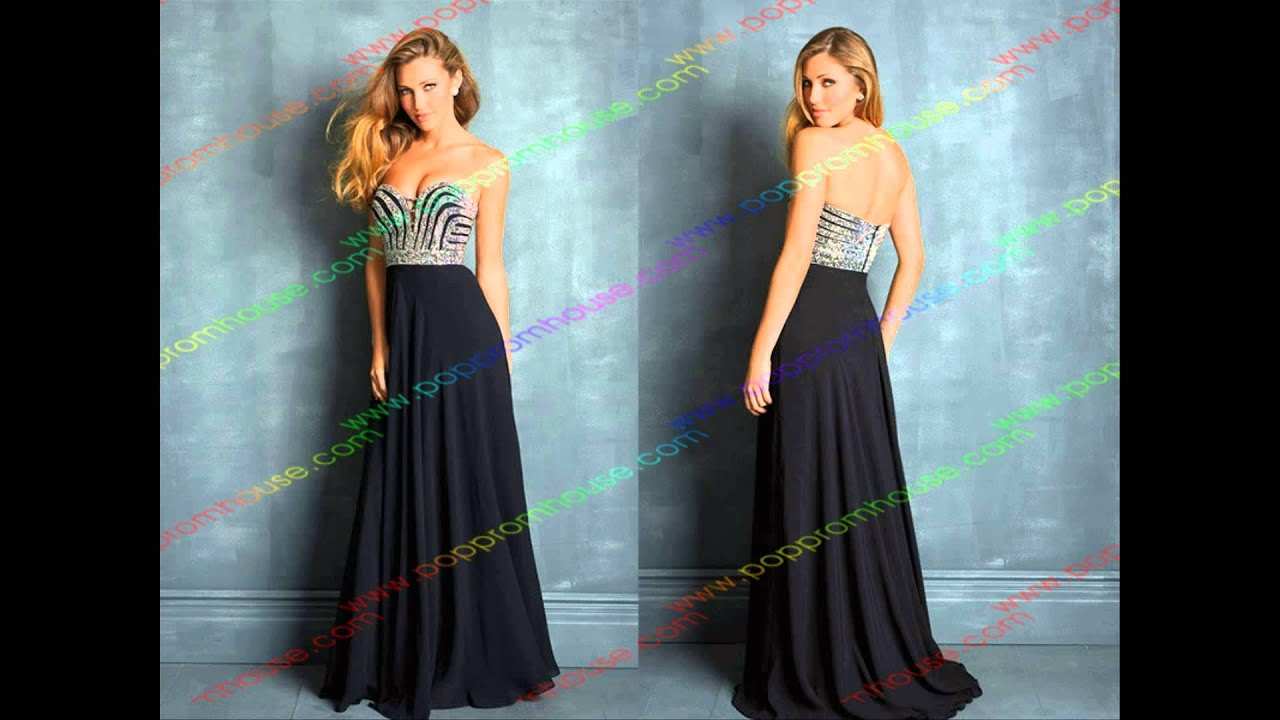 Poppromhouse - Long Black Prom Dresses - YouTube
