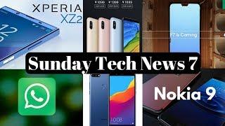 Sunday Tech News 7 - Nokia 9, Whatsapp Update, Oppo F7, Xiaomi Redmi 5, Honor 7C, Xiaomi BlackShark.