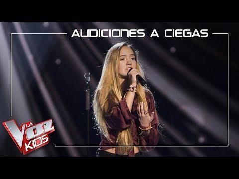 Malu Salgado canta 'Russian roulette'   Audiciones a ciegas   La Voz Kids Antena 3 2019