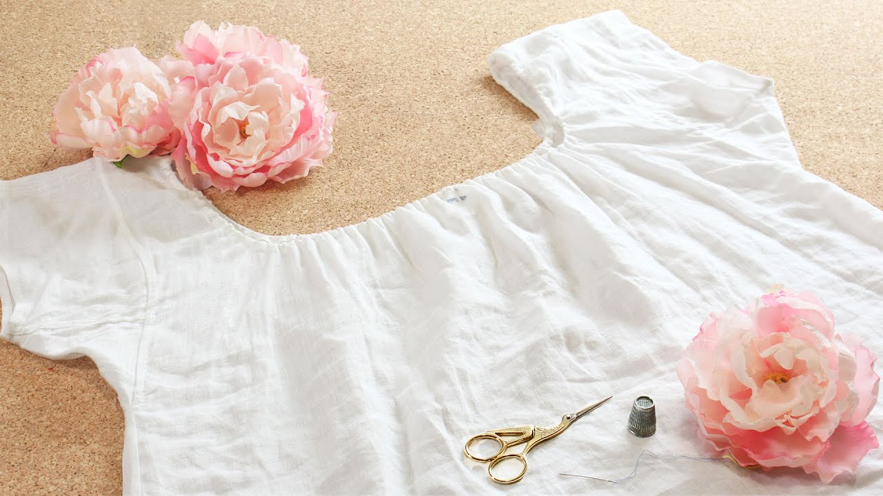 Peaceful Rainy Day Sewing || Making a Regency Chemise