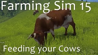 Farming Simulator 15 - How to feed your cows