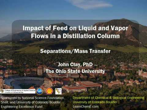 Impact of Feed on Liquid and Vapor Flows in a Distillation Column