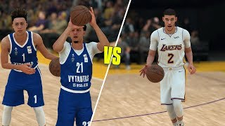 Lamelo And Liangelo Balls Lithuanian Team Vs Lonzo Ball And The Lakers! NBA 2K18 Challenge!