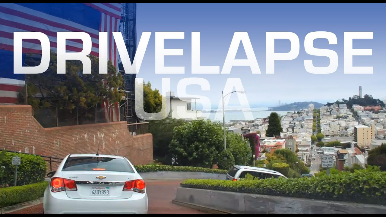 Drivelapse USA Minute Roadtrip Timelapse Tour Around America - Video of car driving across us map