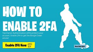 How to Enable 2fa on Fortnite