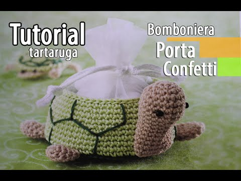 Tutorial Bomboniere Cestino Tartaruga Uncinetto Crochet 16 Youtube