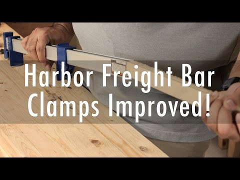 Harbor Freight Bar Clamps Improved – Jigs #4