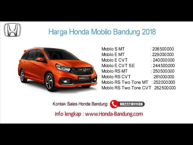 Harga Honda Mobilio 2018 Bandung dan Jawa Barat | Info: 082221011136