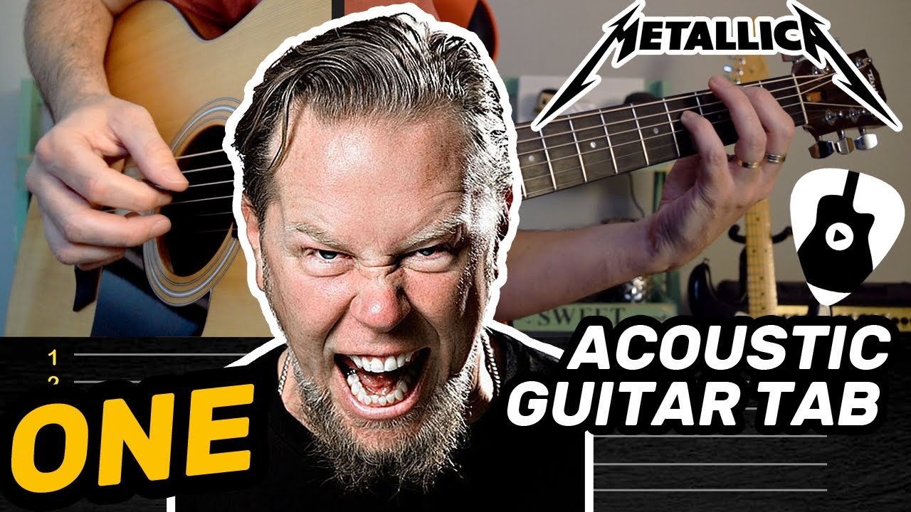 Como Tocar ONE en Guitarra Acústica (Canción de Metallica) | Tablatura, Acordes y Notas TCDG