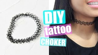 видео tattoo choker necklace