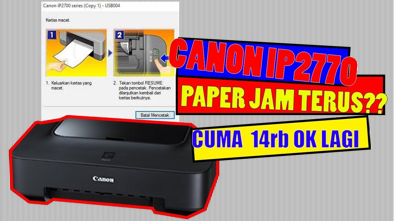Cara Isi Tinta Printer Canon Ip2770 Dengan Mudah Youtube