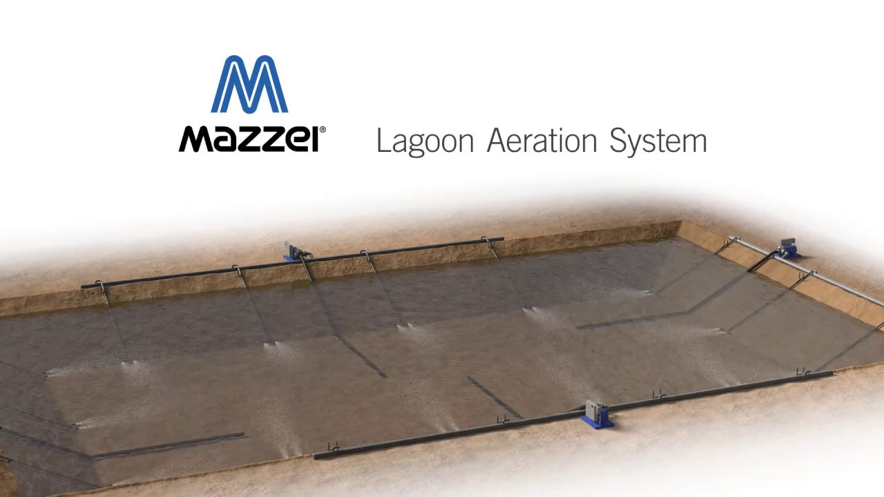 Lagoon Wastewater Aeration System Youtube