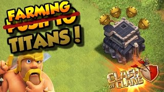 Clash Of Clans| TH9 FARMING IN TITANS | MILLIONS OF LOOT |