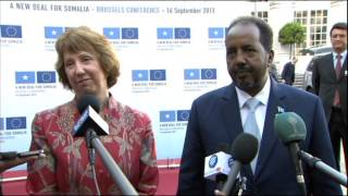 New Deal for Somalia Conference - Catherine Ashton and President of Somalia - Part 2