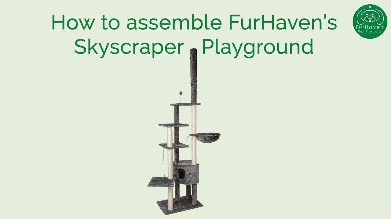 Tiger Tough Skyscraper Playground How To Assemble Furhaven Pet Products Youtube