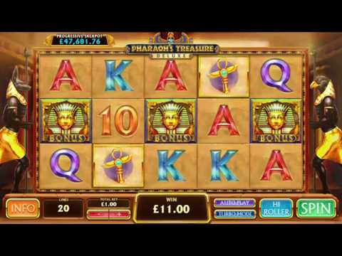 Playtech Pharaoh's Treasure Deluxe Slot Review: Big Wins, Jackpots, Bonus Rounds