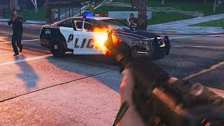 GTA 5 FIRST PERSON SHOOTING GAMEPLAY! (Exclusive)