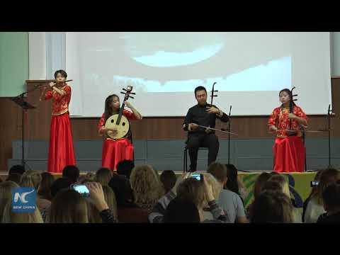 "Russian  ""Kalinka-malinka"" meets with Chinese instruments"