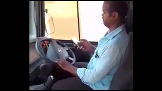 Dangerous RTC Bus Driver || using a mobile phone while driving