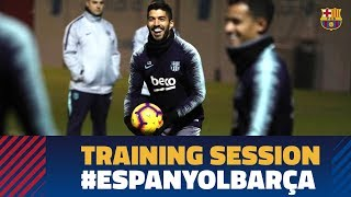 Last workout before the derby against Espanyol