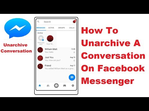 How To Unarchive A Conversation On Facebook Messenger - YouTube
